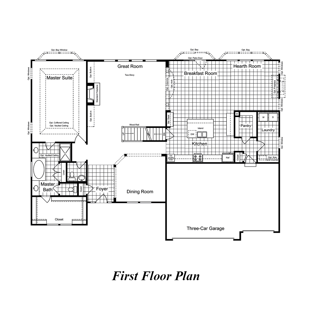 New Homes St Louis Mo Bradford 2 Story 4 Bedroom From Rolwes