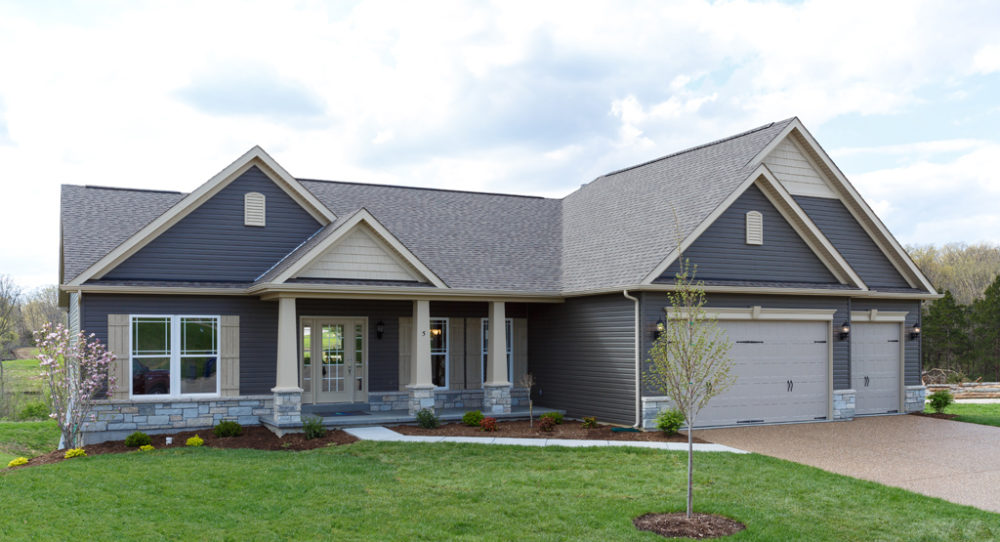 Waverly Home with stone elevation