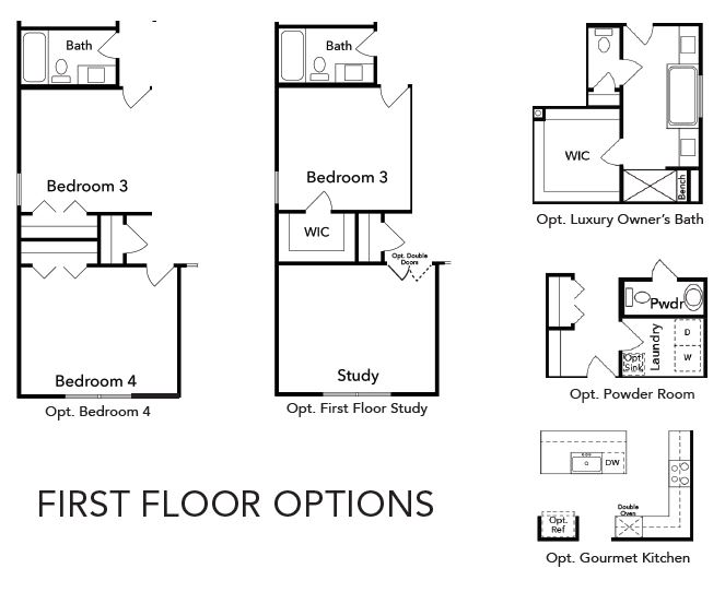 Waverly First Floor Options