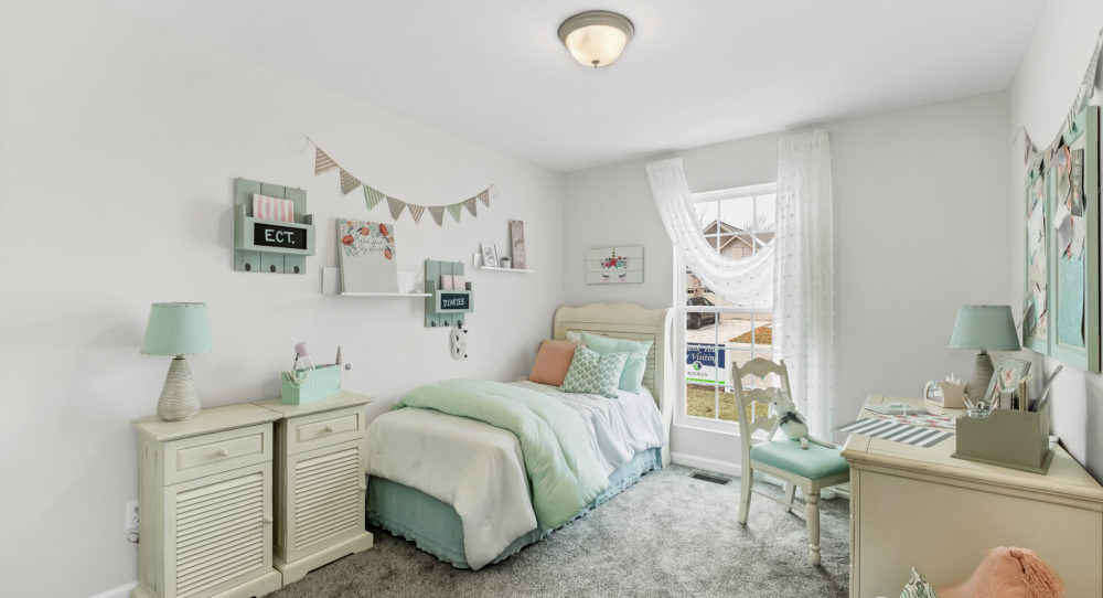 Main Floor Bedroom in Ranch Plan