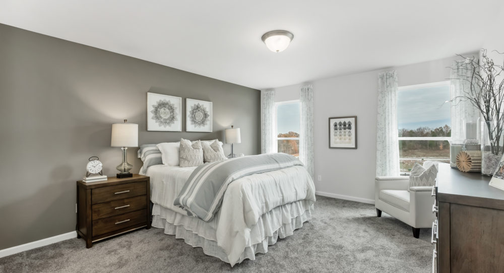 Master Bedroom with Painted Accent Wall