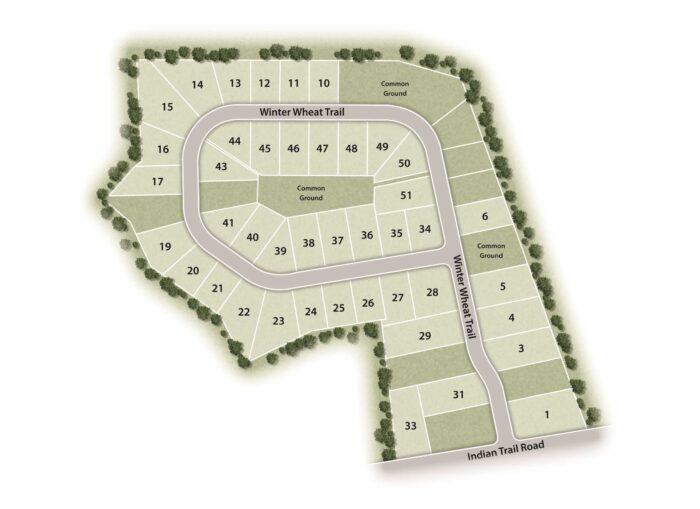 Bend Ridge Lot Map