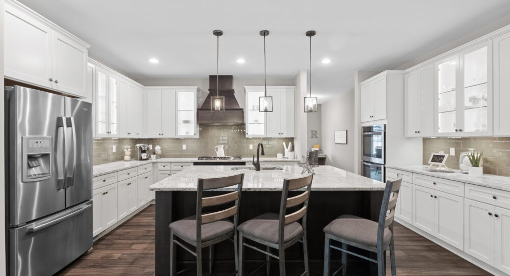 Kitchen in a new home from Rolwes Co.