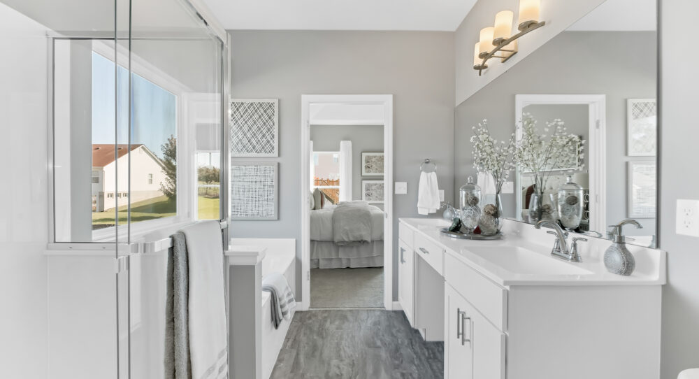 New master bathroom from Rolwes Company.