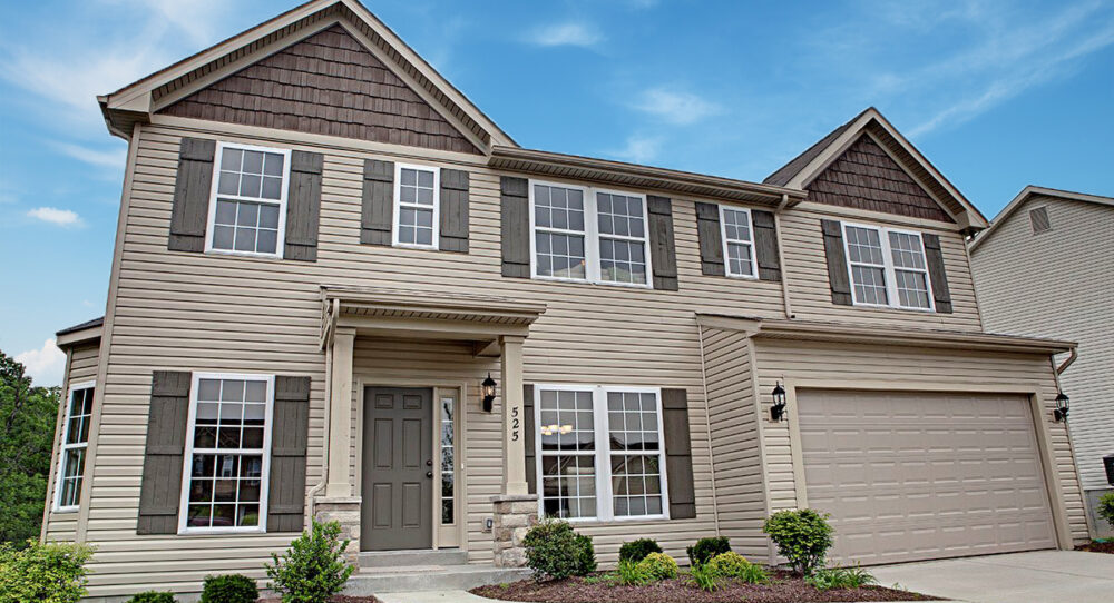 New home exterior from Rolwes Company.