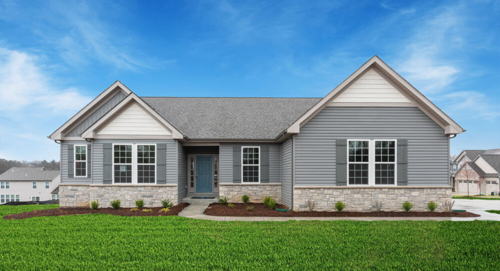 New home exterior image from Rolwes Company.